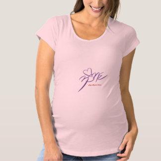 女性の妊婦のなShirt~Oneのハートの地帯 マタニティTシャツ