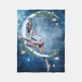 女性の小妖精や小人の月の小さいフリースブランケット フリースブランケット