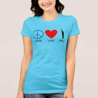 女性の平和愛ドリルT Tシャツ