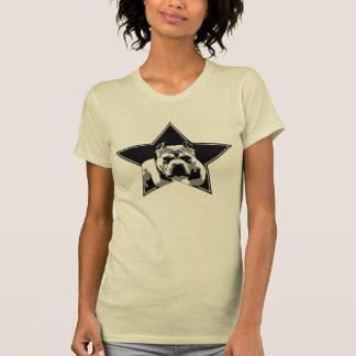 女性の恋人のない戦闘機のピット・ブルの上 Tシャツ