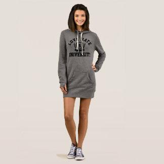 女性の愛憎大学フード付きスウェットシャツ服 ドレス