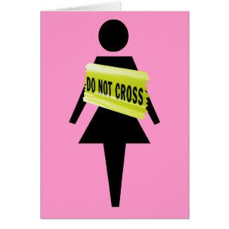 女性の態度の挨拶 カード
