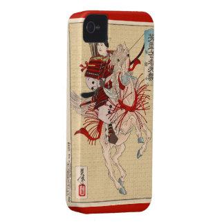 女性の戦士のHangakuのiPhone 4/4sの例 Case-Mate iPhone 4 ケース