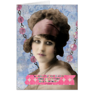 女性の推測の引用文のデジタル芸術 カード