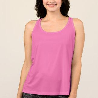 女性の新しいバランスのTシャツのピンクのhotPINK タンクトップ