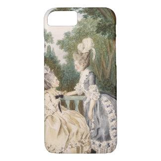 女性の昼間の礼服1771年(色の版木、銅版、版画) iPhone 8/7ケース