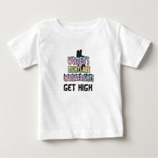 女性の権利は男女同権主義人権です ベビーTシャツ