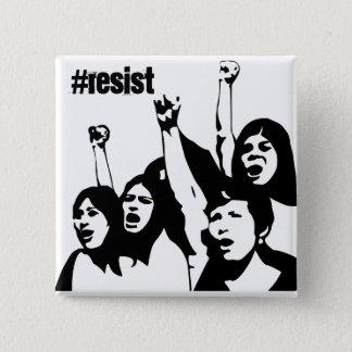、女性の権利ボタン抵抗して下さい 5.1CM 正方形バッジ