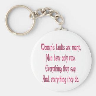 女性の欠陥は多数です キーホルダー