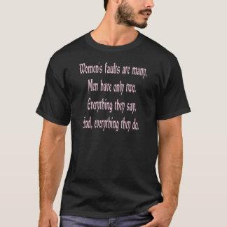 女性の欠陥は多数です Tシャツ