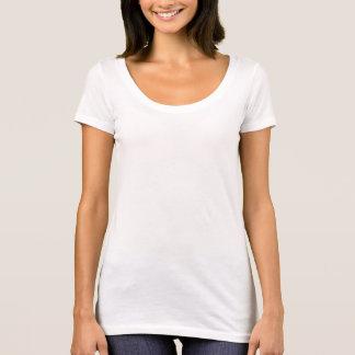 女性の次の水平なスコップの首のTシャツ Tシャツ