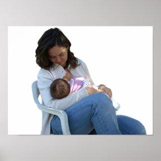 女性の母乳で育てること ポスター