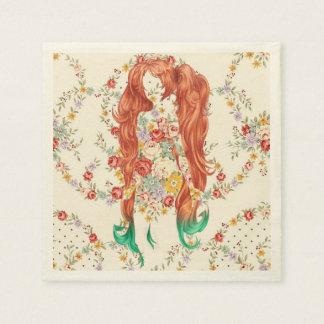女性の毛の花 スタンダードカクテルナプキン