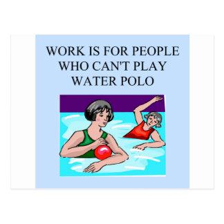女性の水球 ポストカード