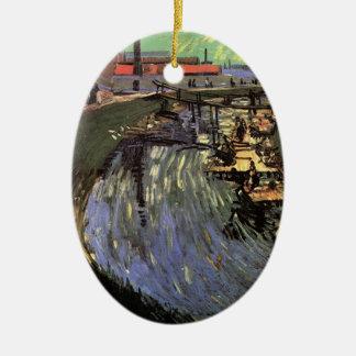 女性の洗浄を用いるゴッホ運河 セラミックオーナメント