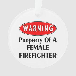 女性の消防士の特性 オーナメント