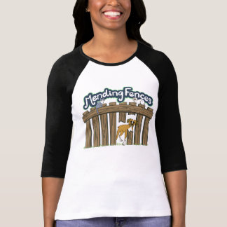 女性の白黒3/4枚の袖のチームワイシャツ Tシャツ