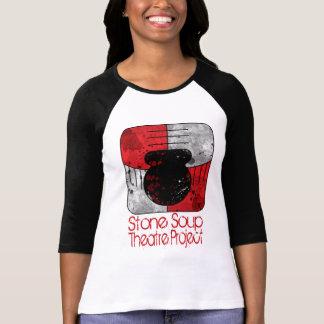 女性の石造りスープ野球のティー Tシャツ