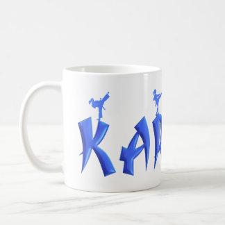 女性の空手 コーヒーマグカップ
