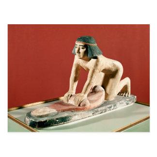 女性の粉砕の穀物のモデル、古い王国 ポストカード