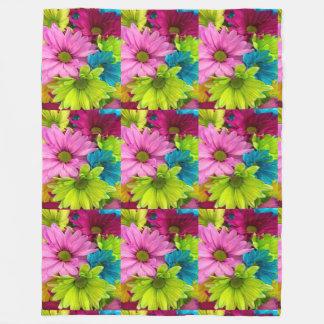 女性の粋で多彩な花毛布 フリースブランケット