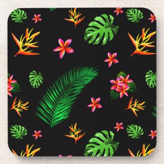 女性の粋な熱帯花は家の装飾を去ります コースター
