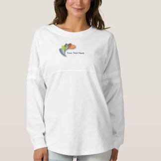 女性の精神のジャージーのカスタムなワイシャツの多彩なロゴ スピリットジャージー