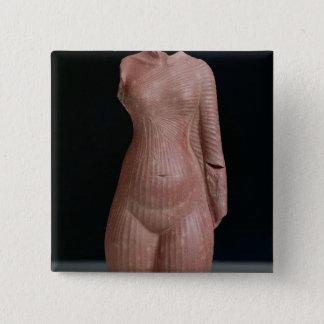 女性の胴、おそらくNefertiti女王 5.1cm 正方形バッジ