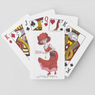 女性の芸術カードのためのSuffragetteの投票 トランプ