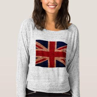 女性の英国国旗の長袖のTシャツ Tシャツ