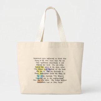 女性の薬剤師のストーリーアートのギフト--笑わされる ラージトートバッグ