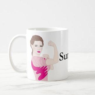 女性の蟹座の生存者のコップ コーヒーマグカップ