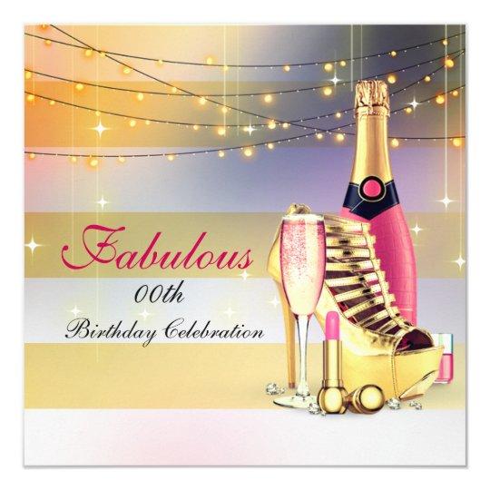 女性の誕生会のシャンペンのすばらしい小剣 カード