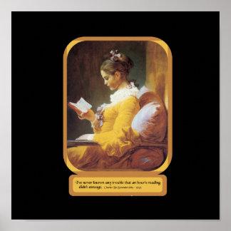 女性の読書ポスター ポスター
