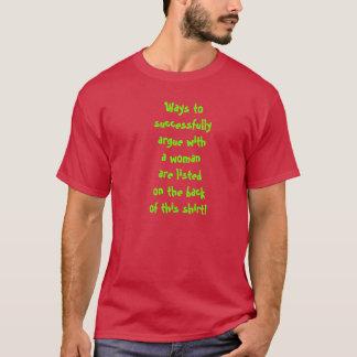 女性の議論 Tシャツ