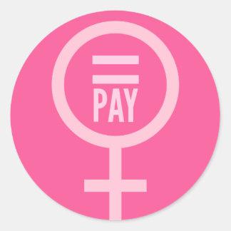 女性の賃金 ラウンドシール