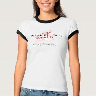 女性の賞賛のティー Tシャツ