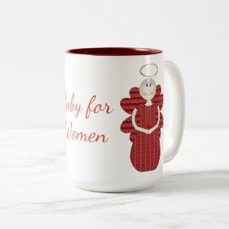 女性の赤の天使のためのルビー ツートーンマグカップ