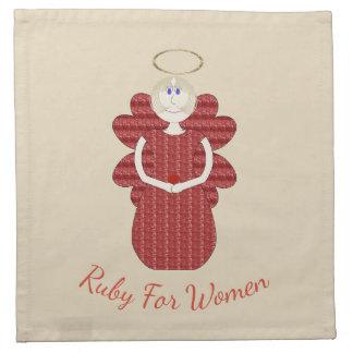 女性の赤の天使のためのルビー ナプキンクロス