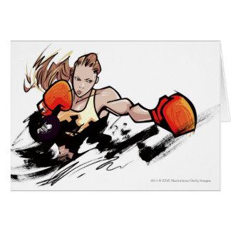 女性の身に着けているボクシンググラブ カード