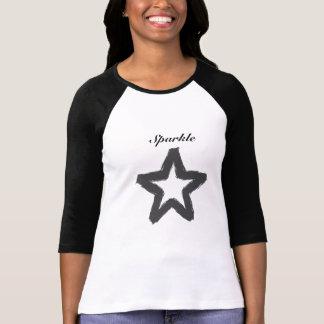 女性の輝きの星の野球のTシャツ Tシャツ