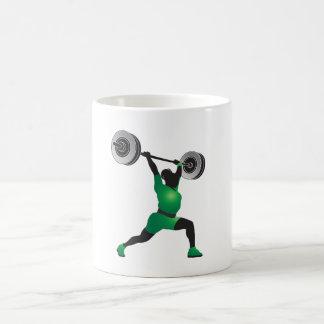 女性の重量挙げ コーヒーマグカップ