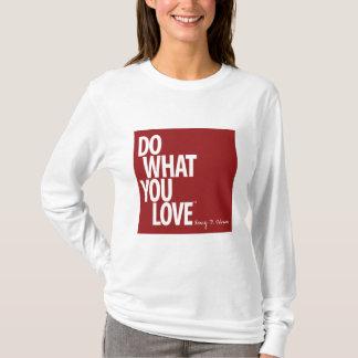 女性の長袖のTシャツを愛するものして下さい Tシャツ