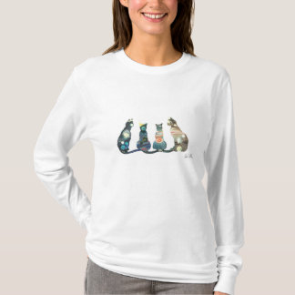 女性の長袖のTシャツ Tシャツ