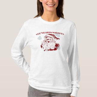 女性の長袖サンタずっといけないです Tシャツ