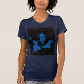 女性の青STOBのワイシャツ Tシャツ