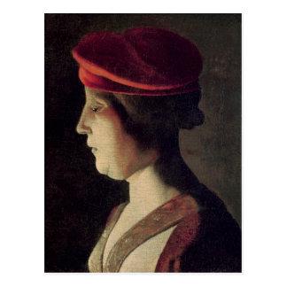 女性の頭部 ポストカード