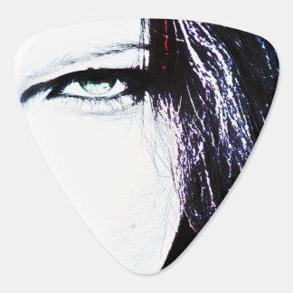 女性の顔のギターピック ピック