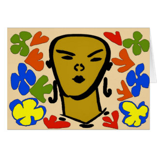 女性の顔のMatisseのスタイル カード