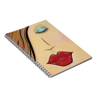 女性の顔 ノートブック